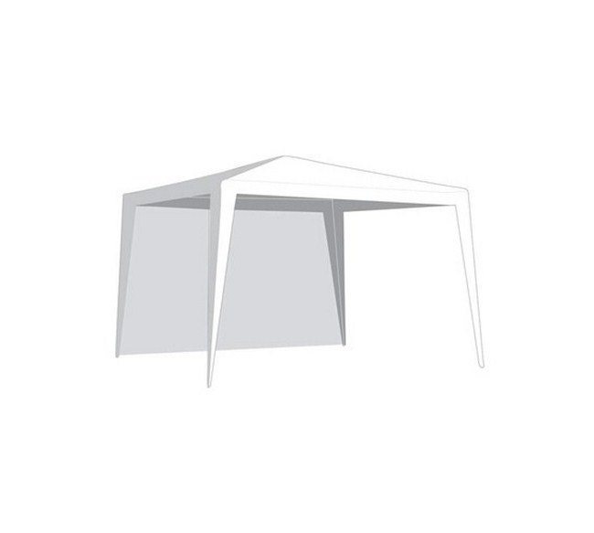 Bočnice záhradného stanu bez okna – biela