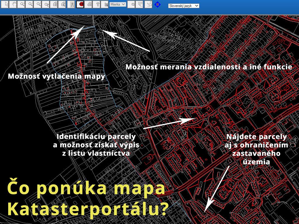 Čo ponúka mapa Katasterportálu