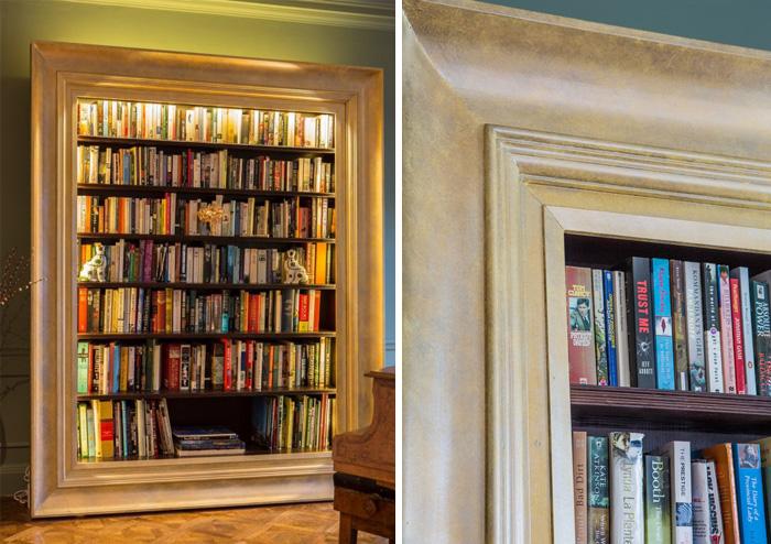 Knižnica v ráme obrazu