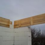 Stavba domu v zime