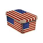 CURVER – Dekoratívny úložný box – S – AMERICAN FLAG
