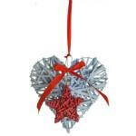Dekorácia srdce záves20x20x5cm