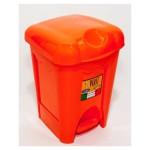 Kôš odpadk. šľapací 16L oranž.