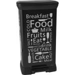 CURVER – Odpadkový kôš Decobin s pedálom 50 l – Black kitchen