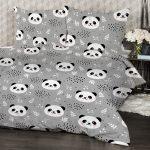 4Home Krepové obliečky Nordic Panda, 160 x 200 cm, 70 x 80 cm