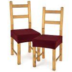4home Multielastický poťah na sedák na stoličku Comfort bordó, 40 – 50 cm, sada 2 ks
