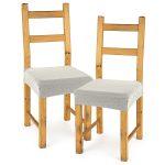 4home Multielastický poťah na sedák na stoličku Comfort smotanová, 40 – 50 cm, sada 2 ks