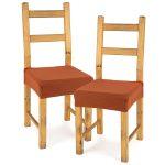 4home Multielastický poťah na sedák na stoličku Comfort terracotta, 40 – 50 cm, sada 2 ks