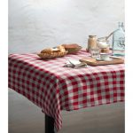 Obrus Linen Couture Red Vichy, 140 x 140 cm