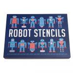 Sada 4 šablón na výrobu robota Rex London Robot Stencils
