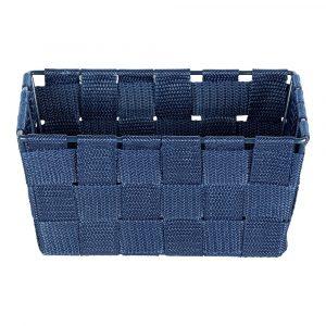Modrý úložný košík Wenko Adria, 19 × 9 cm