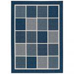 Modrý vonkajší koberec Universal Nicol Squares, 140 x 200 cm