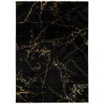 Čierny koberec Universal Gold Marble, 140 x 200 cm