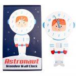 Detské nástenné hodiny z dreva Rex London Astronaut