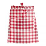 Látková zástera Linen Couture Delantal de Lino Red Vichy
