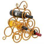 Stojan na víno v zlatej farbe Mauro Ferretti