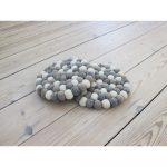 Svetlá sivo-biela guľôčková podložka z vlny Wooldot Ball Coaster, ⌀ 20 cm