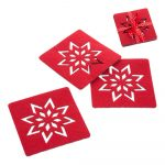 Sada 4 červených vianočných tácok Unimasa Star