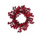 Červený vianočný veniec Unimasa Holly, ø 35 cm