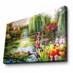 Nástenný obraz na plátne Impressionist Garden, 70 × 45 cm
