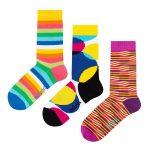 Set 3 párov ponožiek Ballonet Socks Stripy v darčekovom balení, veľkosť 41 – 46