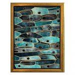 Plagát v ráme v zlatej farbe Piacenza Art Fishy, 33,5 x 23,5 cm