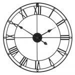 Čierne nástenné hodiny Premier Housewares Matt, ⌀ 59 cm