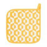 Sada 2 žltých bavlnených chňapiek Tiseco Home Studio Hexagon