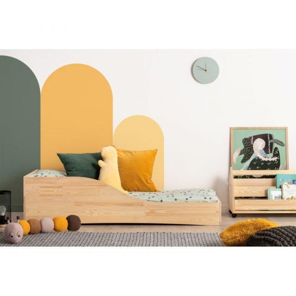 Detská posteľ z borovicového dreva Adeko Pepe Colm, 90 x 200 cm
