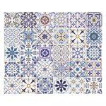 Súprava 30 nástenných samolepiek Ambiance Tiles Azulejos Riviera, 10×10 cm