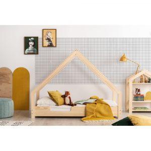 Domčeková detská posteľ z borovicového dreva Adeko Loca Cassy, 100 x 200 cm