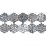 Súprava 10 samolepiek na podlahu Ambiance Quento, 40×90 cm