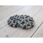 Tmavosivá guľôčková podložka z vlny Wooldot Ball Coaster, ⌀ 20 cm