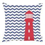 Modrá obliečka na vankúš Mike&Co.NEWYORK Lighthouse, 43 x 43 cm