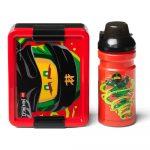 Set červeného desiatového boxu a fľaše na pitie LEGO® Ninjago Classic