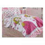 Ružová detská bavlnená prikrývka cez posteľ Eponj Home Princess, 160 x 235 cm