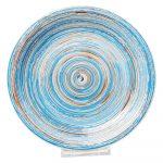 Modrý kameninový tanier Kare Design Swirl, ⌀ 27 cm