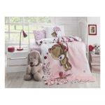 Detská prešívaná bavlnená prikrývka cez posteľ Baby Pique Pinkie, 95 x 145 cm