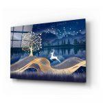 Sklenený obraz Insigne Magic Deer, 72 x 46 cm