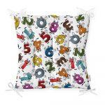 Sedák s prímesou bavlny Minimalist Cushion Covers Crazy Numbers, 40 x 40 cm