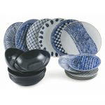 18-dielna súprava riadu z porcelánu a kameniny Villa d'Este Blue Masai