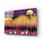 Sklenený obraz Insigne Birds and Deers, 72 x 46 cm
