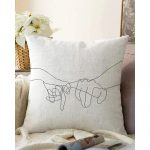Obliečka na vankúš s prímesou bavlny Minimalist Cushion Covers Pinky, 55 x 55 cm