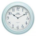Modré nástenné hodiny Kitchen Craft Living Nostalgia Blue, ⌀ 25,5 cm