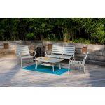 Súprava záhradného stolíka, kresiel a lavice Ezeis Spring Lounge