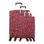 Sada 3 ružových kufrov na 4 kolieskach Lulucastagnette Casandra