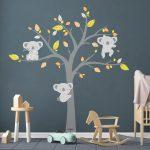 Detské samolepky na stenu Ambiance Koala Autumn