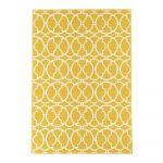 Žltý a umývateľný vonkajší koberec Interlaced, 160×230 cm