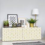 Bielo-žltá dekoratívna tapeta na nábytok Ambiance Marink