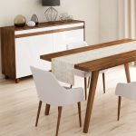 Behúň na stôl Minimalist Cushion Covers Beige Ethnic, 45 x 140 cm